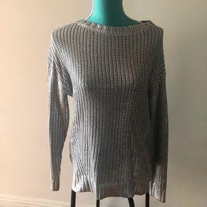 H&M silver sweater Small
